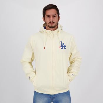 Jaqueta New Era MLB Los Angeles Dodgers Off White