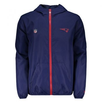 Jaqueta New Era NFL New England Patriots Windbreaker Core Azul