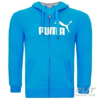 Jaqueta Puma Ess Fundamentals Logo Azul
