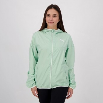 Jaqueta Puma Windbreaker Essentials Solid Feminina Verde