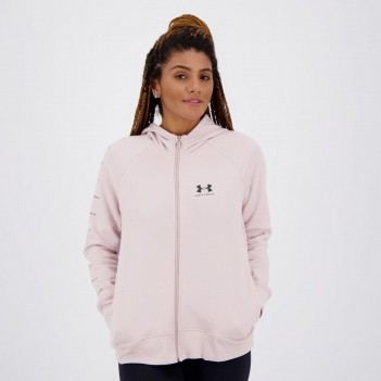 Jaqueta Under Armour Rival Fleece Sportstyle Feminina Rosa