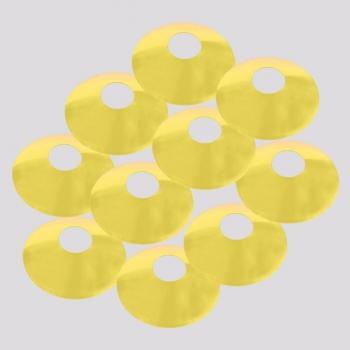 Kit 10 Cones de Marcação Poker Amarelo
