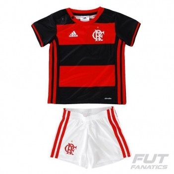 Kit de Uniforme Adidas Flamengo I 2016 Baby