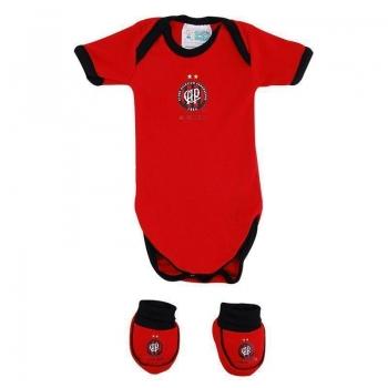 Kit Body Atlético Paranaense Vermelho