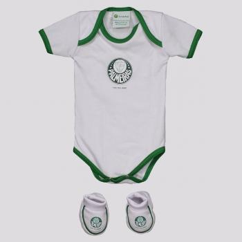 Kit Body Palmeiras Torcida Infantil Branco