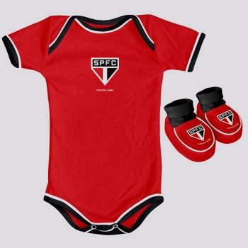 Kit Body São Paulo Infantil Vermelho