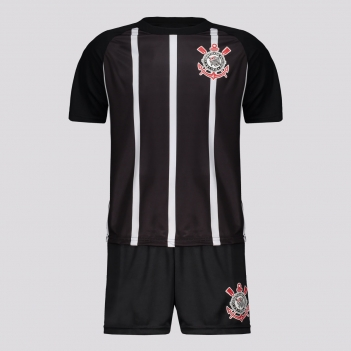 Kit Corinthians Stripes Juvenil Preto