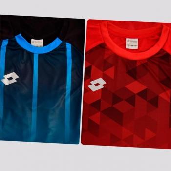 Kit de 2 Camisas Lotto Azul e Vermelha