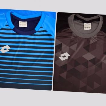 Kit de 2 Camisas Lotto Colors Azul e Preto