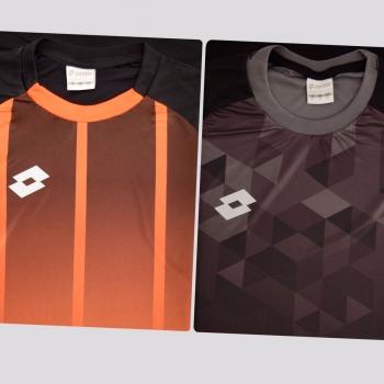 Kit de 2 Camisas Lotto Laranja e Preta