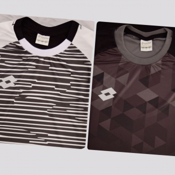 Kit de 2 Camisas Lotto Variantes Branca e Preta