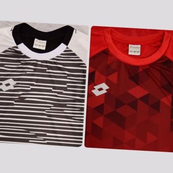 Kit de 2 Camisas Lotto Variantes Branca e Vermelha