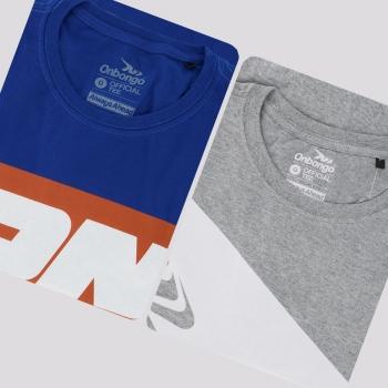 Kit de 2 Camisetas Onbongo Azul e Cinza