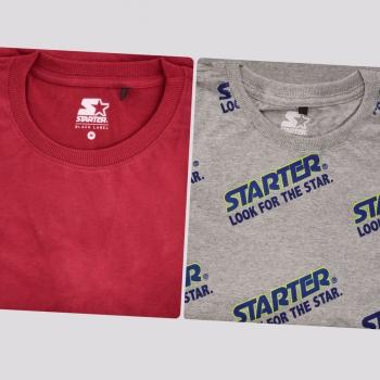 Kit de 2 Camisetas Starter III Cinza e Vinho