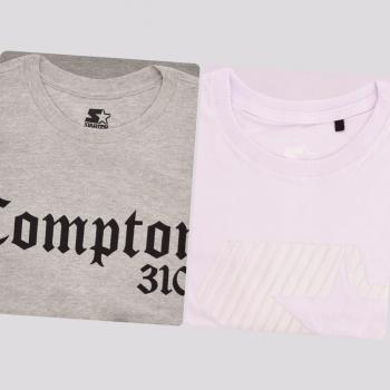 Kit de 2 Camisetas Starter VI Cinza e Branca