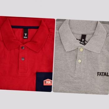 Kit de 2 Polos Fatal I Vermelha e Cinza