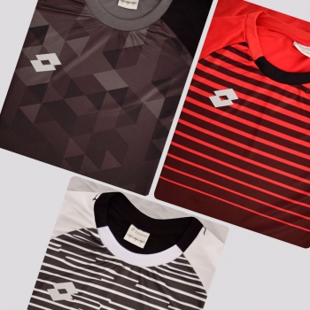 Kit de 3 Camisas Lotto Colors