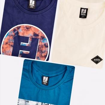 Kit de 3 Camisetas Fatal Pattern