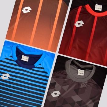 Kit de 4 Camisas Lotto Colors