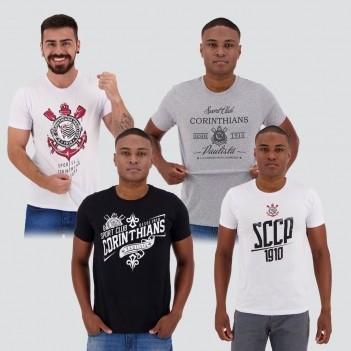 Kit de 4 Camisetas Corinthians II