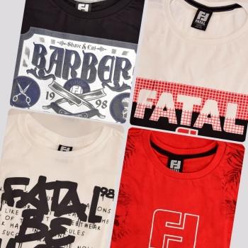 Kit de 4 Camisetas Fatal Stylized