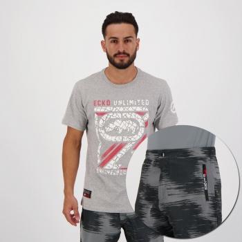 Kit Ecko Bermuda e Camiseta Cinza
