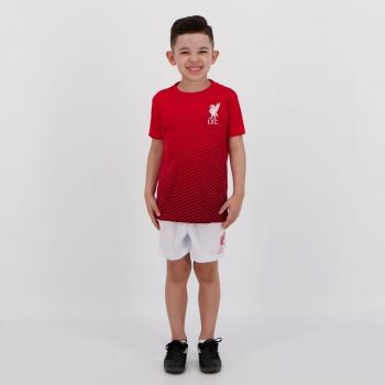 Kit Infantil Liverpool Vermelho e Branco
