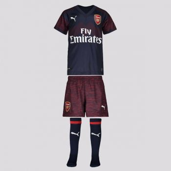 Kit Infantil Puma Arsenal Away 2019 Juvenil
