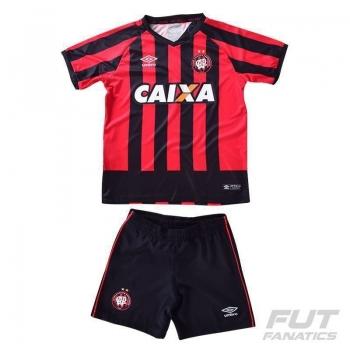 Kit de Uniforme Umbro Atlético Paranaense I 2016 Infantil