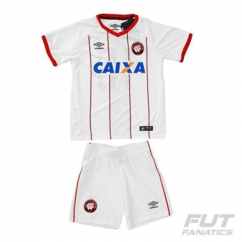 Kit de Uniforme Umbro Atlético Paranaense II 2016 Infantil