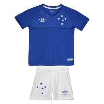 Kit de Uniforme Umbro Cruzeiro I 2018 Infantil