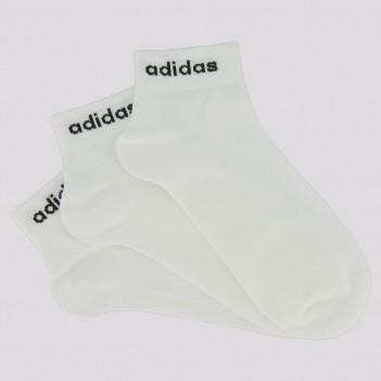 Kit Meia Adidas Ankle 3 Pares Feminina Branca