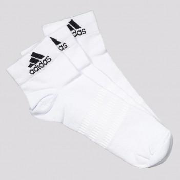 Kit Meia Adidas Ankle Cano Médio 3 Pares Branca