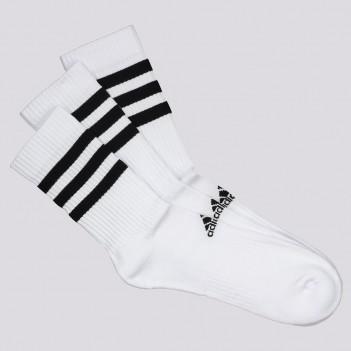 Kit Meia Adidas Cush Cano Alto 3 Pares Branca