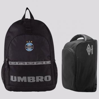 Kit Umbro Mochila Grêmio + Porta Chuteira