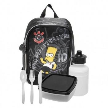 Lancheira Bart Simpsons Corinthians com Acessórios