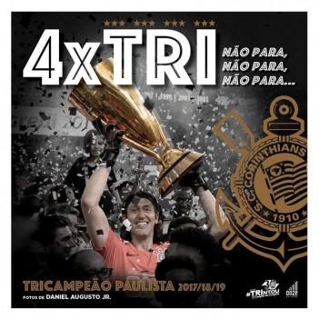 Livro Corinthians 4x Tricampeão Paulista 2017/18/19