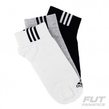 Meia Adidas Ankle Low 3 Pares