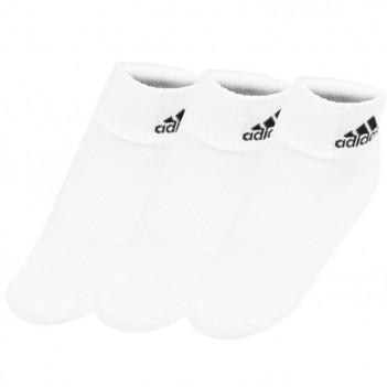 Meia Adidas Ankle Mid Cushion 3 Pares Branca