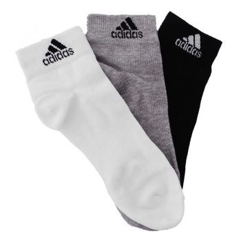 Meia Adidas Ankle Mid Thin 3 Pares Multicores