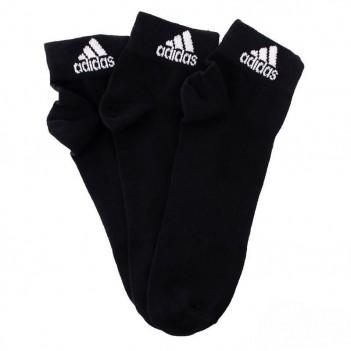 Meia Adidas Ankle Mid Thin 3 Pares Preta