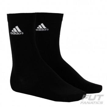 Meia Adidas Crew Thin Preta