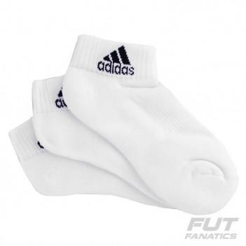 Meia Adidas Low Cushion 3 Pares Branca