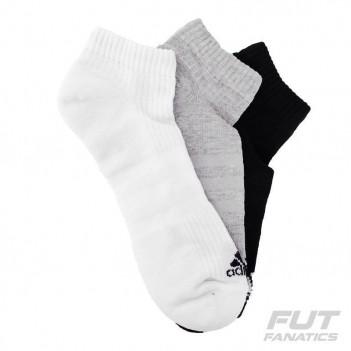 Kit Meia Adidas No Show Cushion 3 Pares