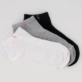 Kit Meia Lupo Socks Cano Curto 3 Pares