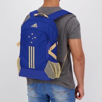 Mochila Adidas Cruzeiro Azul e Dourada