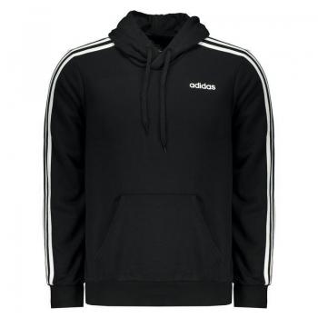 Moletom Adidas Essentials 3 Stripes Preta