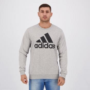 Moletom Adidas Essentials Cinza Mescla