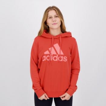 Moletom Adidas Essentials Feminino Vermelho
