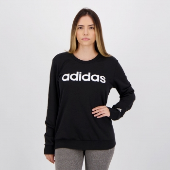 Moletom Adidas Essentials Linear Feminino Preto